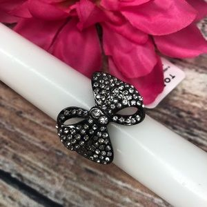 Torrid Black Bow Cocktail Ring